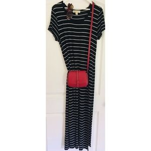Michael Kors Striped Maxi Dress EUC